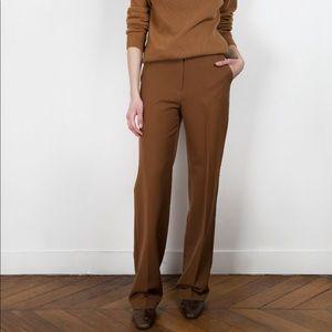 NWT The Frankie Shop Cognac Trousers Size M